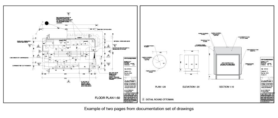 Documentation drawing set