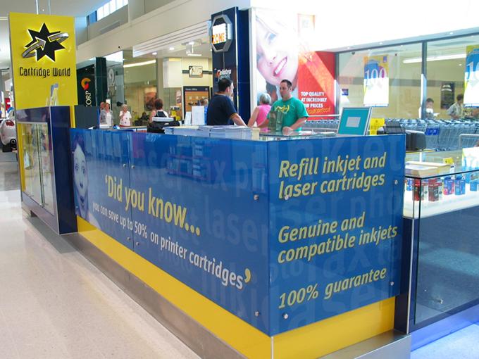 Cartridge World Helensvale   retail interior designers   shopping centre interior architect