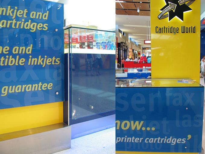 Cartridge World Helensvale | retail interior designers | shopping centre interior architect