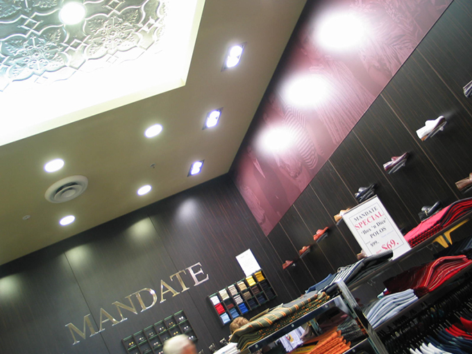 Mandate Menswear Robina   Retail Shop Designers Australia