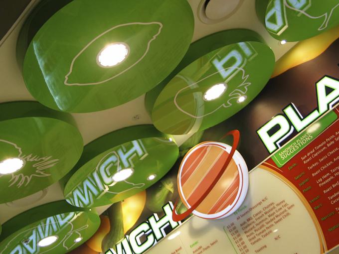 Sandwich Planet Robina retail food court tenancy design Gold Coast and Brisbane