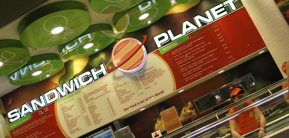 Sandwich Planet   Robina Town Centre   Cuschieri Design   Retail shop interior designers
