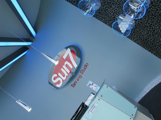 Sun 7 Tanning Studio Robina Town Centre   Retail shop interior designer Gold Coast and Brisbane