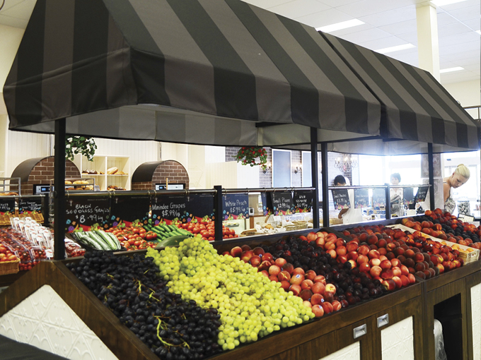 Ambarella Fresh offers farm to table fresh produce in a French provincial farmer's market atmosphere