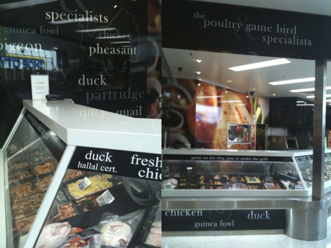 Runaway Poultry shop design - after facelift completed