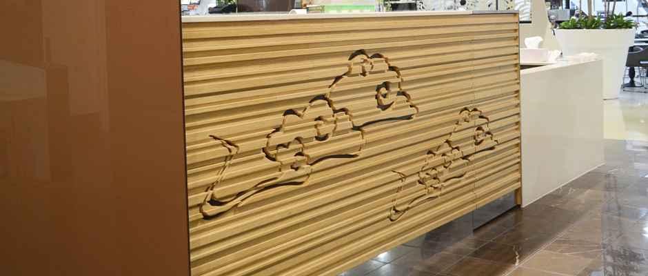 Noodle Haus at Westfield Carindale is the latest shop design from David Cuschieri