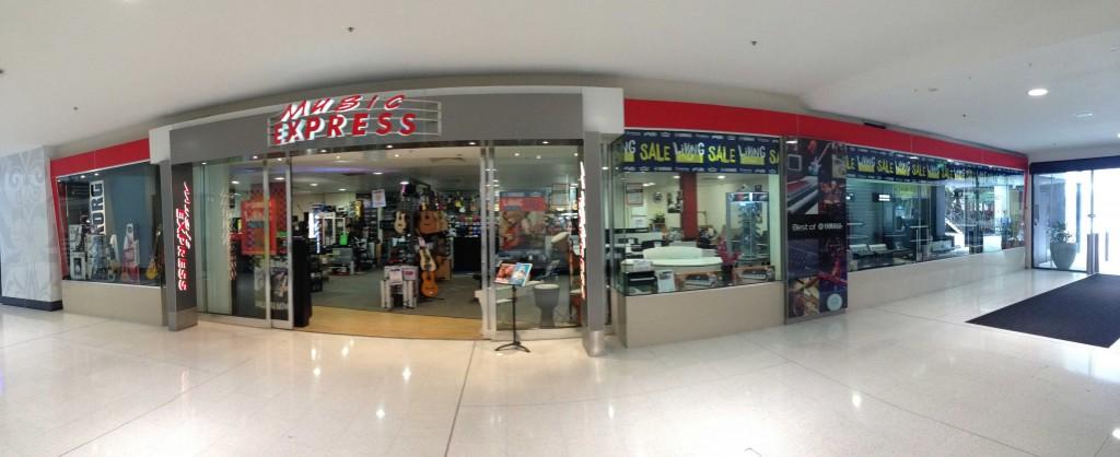 Existing music express shopfront