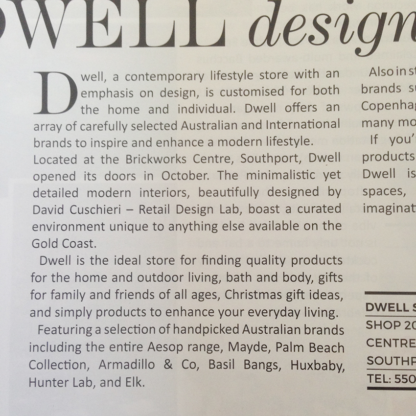 Homewares shop retail design