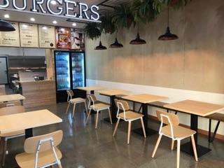 Gourmet burger shop design