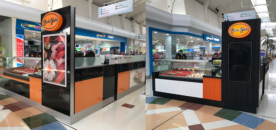 Before and after retail design facelift